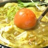 通年とおして人気の『トマトチーズカレー鍋』くせになる味です☆