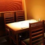 少人数様にもテーブル個室