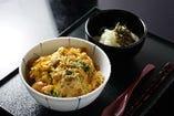 野菜かき揚げ玉子とじ丼