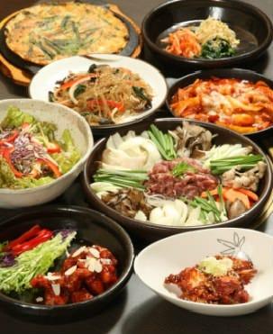 ■全州コース■人気の韓国料理8品 2500円