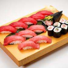 最強本まぐろセット Fresh Bluefin Tuna Sushi Combo