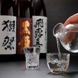 こだわりお寿司と相性◎自慢のお寿司に合わせて選べる厳選日本酒