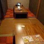【個室の掘り炬燵席】ゆったり座れる2名様、4名様、6名様など。