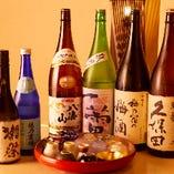 鮨と相性のいい地酒を全国各地からお取り寄せ