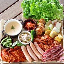【ソフトドリンク飲放付☆テラス限定】流行りの韓国風・旨辛チーズタッカルビコース