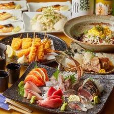 【2.5時間飲み放題付】お造り六点盛り合わせやちらし寿司で彩る「だんおすすめコース」〈全10品〉5,500円