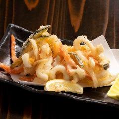天ぷら(海老天ぷら、たこ天ぷら、いか天ぷら、げそ天ぷら、地穴子天ぷら)