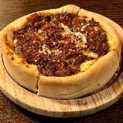 シカゴスタイルディープディッシュピザ