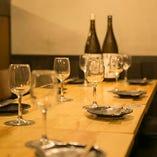 テーブル個室は最大16名様。大勢で楽しむ会食に