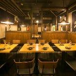 【テーブル席貸切:40~50名様】 天王寺駅近×大人数宴会なら『照』へお越しください
