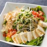 有機野菜と豆腐の胡麻サラダ
