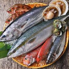 全国各地から新鮮な魚介が随時入荷