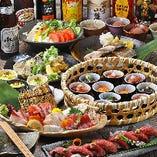 【平日3h/週末2hPREMIUM飲み放題】新鮮お造り4種や炙り牛寿司を♪『鳥』~とり~コース〈全8品〉