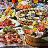 【平日3h/週末2h 獺祭50&日本酒40種付】お造り5種&ステーキ・特上牛寿司『月』~つき~コース〈全9品〉