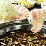 北海道産豚「夢の大地」使用 博多葱しゃぶ