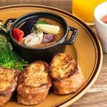 A 1月LUNCHSET ごろごろ野菜カレーのフレンチトースト