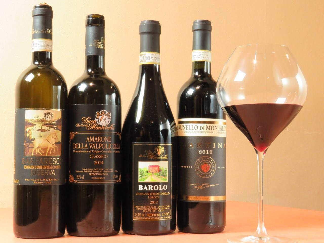 厳選ワインが多数ご用意あります