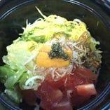 雲丹と夏野菜の素麺