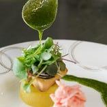 京野菜や目利きされたお肉&魚介を使用しています。