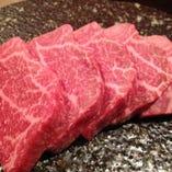 国産牛希少部位の炭焼きステーキ(ラムシン)