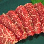 国産牛希少部位の炭焼きステーキ(イチボ)
