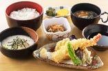 とろろ天ぷら定食