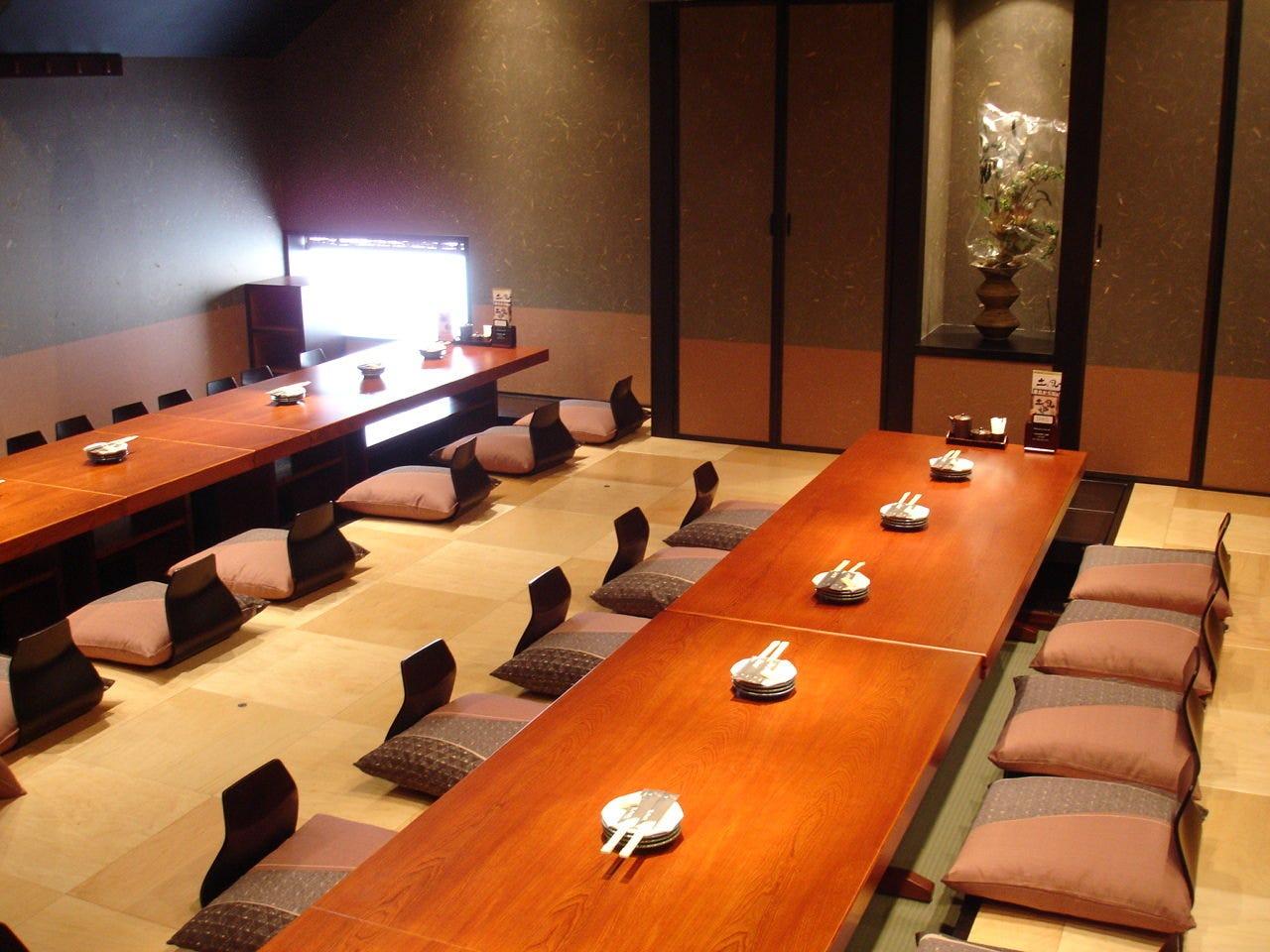 完全個室の大宴会は40名まで