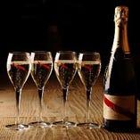 お祝い事にはやっぱりシャンパーニュ!