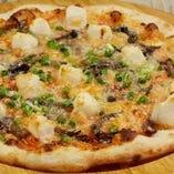 もちと明太子のチーズピザ