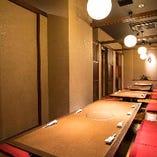【掘りごたつ/最大35名様】全席掘りごたつ個室を完備 落ち着いた和のくつろぎ空間