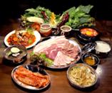 四谷限定韓国田舎サムバ定食 1人様2,980円(2様より)