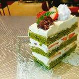 オーナーお手製♪食後のケーキ付き