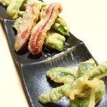 旬の野菜天ぷら