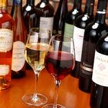 飲み放題ではワインも愉しめます!