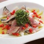 旬の魚のカルパッチョ