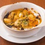 ■牡蠣やホタテ、キノコのブイヤベース風