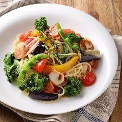 7種野菜と帆立のペペロンチーノ