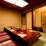 【地階|掘りごたつ席】ぬくもりを感じる優美な和のしつらえ『菊の間』10名様まで