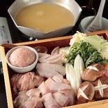 自家製鶏白湯スープお鍋でアツアツ!ゆったり2,5時間!9品5,000円(税込) 2.5時間飲放題付き【宴会/個室】
