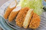 ささみ&チーズロースかつ(ハーフ)定食