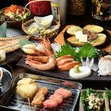串カツやぶっかけいくら丼など、名物料理が盛り沢山♪