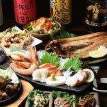 いくらぶっかけ丼をはじめ、ホッケの炙りなど北海道直送の食材を味わえる逸品を揃えたコースをご用意しました!