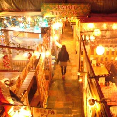 新宿ビアガーデン 天空の街 アジア横丁 店内の画像
