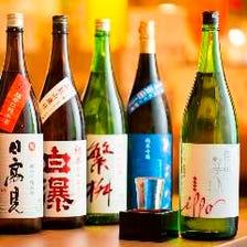 ●魚に合う九州の地酒や焼酎を!