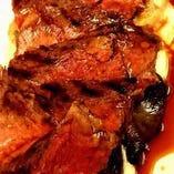 能登牛ハラミ肉のタリアータステーキ