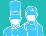 就業中:手指消毒の徹底とマスクの着用