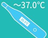 就業前:スタッフ全員の体温測定