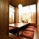 掘りごたつタイプの個室席。