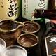 日本酒にも力を入れています。落ち着くんですよね!