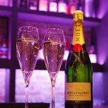 <特別な日も> 記念日などの華やかな会にシャンパンがおすすめ。